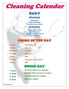 A cleaning calendar you can't live without! Keep your house clean (yes, deep cleaned, even!) with one chore per day. It also includes a FREE template to create your own schedule. This is so doable and covers everything! Bakerette.com
