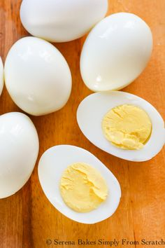 Easy Peel Perfect Hard Boiled Eggs recipe are so easy to make! The shell slips right off and no green rim. Egg Recipes, Brunch Recipes, Appetizer Recipes, Breakfast Recipes, Dessert Recipes, Tailgating Recipes, Breakfast Items, Barbecue Recipes, Barbecue Sauce