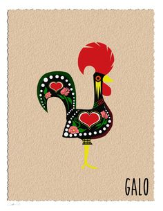 Rooster also available in Chicken. *** The Rooster of Barcelos *** #RoosterOfBarcelos My kitchen has both. :) https://www.etsy.com/listing/209571070/rooster-or-chicken