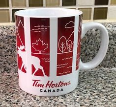 Tim Hortons Traveller Collection CANADA Mug Coffee Cup Limited Edition Series 1 #TimHortons Tim Hortons Canada, Starbucks, Coffee Cups, Canada Eh, Coffee Ideas, Mugs, Tableware, Collection, Favorite Things