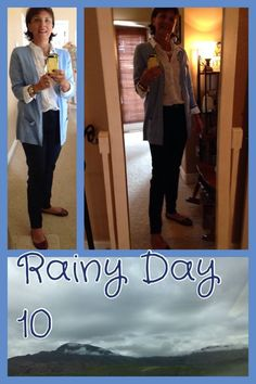 Work Wear Challenge Day 10 9/5/2014:  Old Navy faithful boyfriend cardi, Loft super skinny (super tight) dark wash jeans, Old Navy button up shirt, DSW maroon flats, faux pearls from a former student.