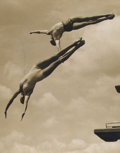 Untitled/Two divers, 1930s, by William M. Rittase