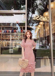 Korean Fashion Dress, Korean Dress, Modest Fashion, Fashion Dresses, Korean Casual Outfits, Casual Dresses, Summer Dresses, Cute Fashion, Girl Fashion