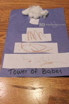 © BD Photography, All rights reserved 2014 Daisy's finished Tower of Bable  craft. Because the girls are 7 years apart I plan different crafts for them both so they are more age appropriate