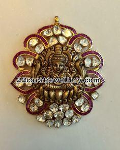 Lakshmi and Ganesh Pendants - Jewellery Designs