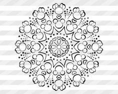 Disney Font Free, Disney Diy, Disney Crafts, Disney Fonts, Disney Mickey, Disney Mandala Tattoo, Disney Henna, Plastic Canvas Tissue Boxes, Plastic Canvas Patterns