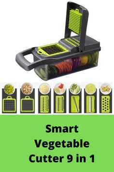 Smart Vegetable Cutter 9 in 1 Potato Recipes, Vegetable Recipes, Kitchenware Set, Mandolin Slicer, Fruits And Vegetables, Chopper, Dice, Container, Meals
