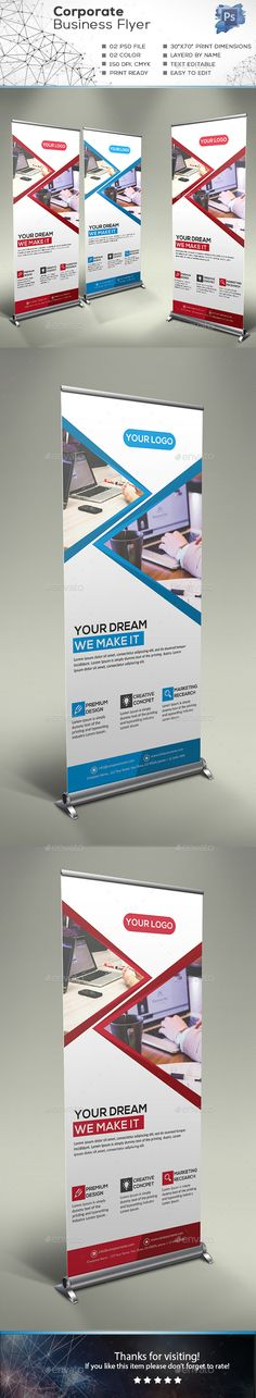 Corporate Business Roll-up Banner Template PSD
