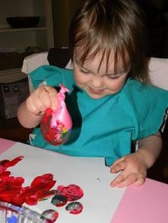 Painting with baloons