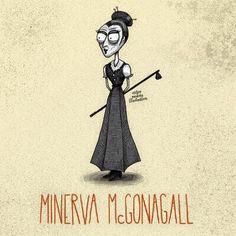 Minerva McGonagall (Tim Burton Style)
