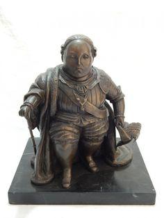Fernando, BOTERO ( Atribuído) - Escultura em bronze patinado, representando Luiz XVI, base em mármo