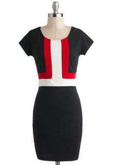 $34 so perfect for work! Swiss Chic Dress, #ModCloth