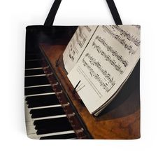 'A Little More Music' Tote Bag by Vicki Field