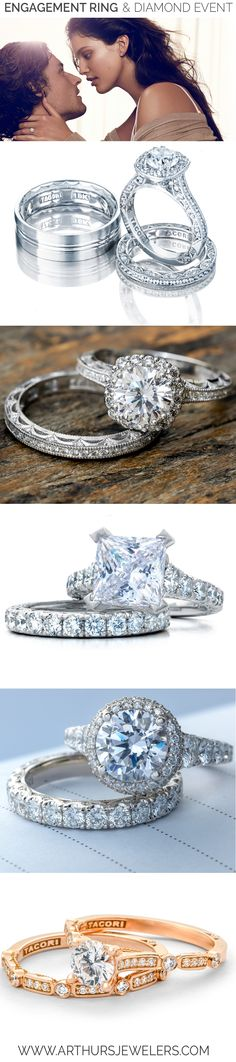 Tacori Engagement Rings and Wedding Bands available at Arthur's Jewelers.