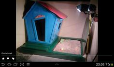 Play house with sand pit from pallet wood