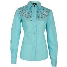 RU Cowgirl Women's Embroidered Western Shirt ==>
