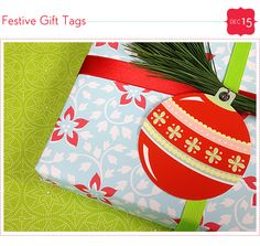 Here are some cheerful gift tags for you to download and cut out.