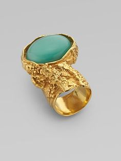Yves Saint Laurent Arty Ovale Ring in Green