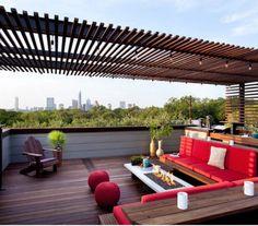 Apartment Roof Pergolas With Sofa #Roof_Pergolas #Apartment_Rooftop_Pergola #Roof_Pergola_Gazebos #Rooftop_Pergolas #Rooftop_Gazebos #Rooftop_Garden_Pergolas