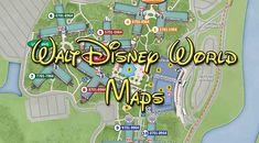Great maps for each of the Walt Disney World Resorts!  These resorts are HUGE so this list is so valuable to have!