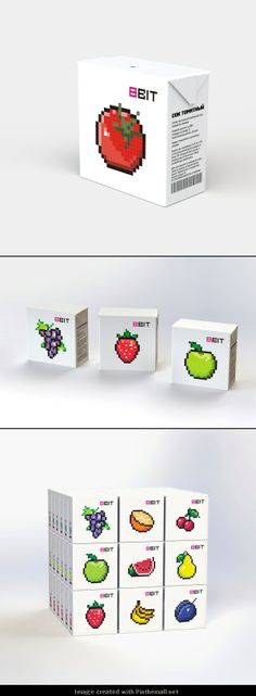 More #pixel #packaging love curated by Packaging Diva PD via https://www.behance.net/gallery/upakovka-dlja-soka/11174375