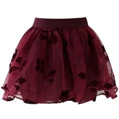Chicwish Wine Red Beloved Organza and Crepe Skort (€34) ❤ liked on Polyvore featuring skirts, mini skirts, bottoms, saias, faldas, red, short skirts, red tutu skirt, layered skirt and organza skirt