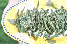 Two Blue Lemons: Roasted Sesame Green Beans