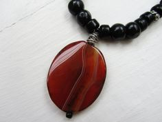 Handmade necklace / Agate pendant / by MildredAndPerry on Etsy, $25.00
