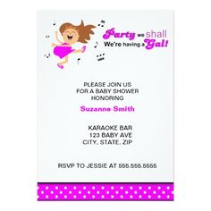 Hot Pink Dancing Mom-to-be baby shower invites