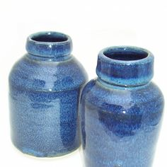 Category: Glaze, Blue, Author: Ruth Gillett, Notes: when this glaze is satisfied with the heatwork it has received, it is a rich blue, mottled and glossy. where it is thiner it is brown. when underfired it is a duller blue