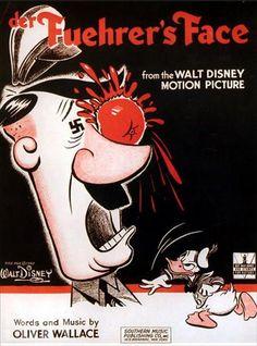 """Walt Disney's Der Fuehrer's Face (1943) // """"By 1943, 94% of all Walt Disney's work was related to the Allies' war effort."""""""