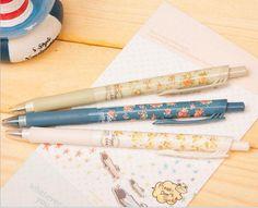 6 pcs/lot 3 Colors New Cute Cartoon Vintage Flower Ballpoint Ball Pens Plastic Kawaii Stationery Creative Gifts 03608