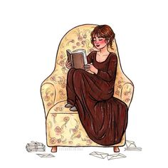 """susannedraws: """" Inktober day 9 Elizabeth Bennet """"I declare after all there is no enjoyment like reading! How much sooner one tires of anything than of a book! When I have a house of my own, I shall be miserable if I have not an excellent library. I Love Books, Good Books, Books To Read, Reading Art, Woman Reading, Reading Books, Laika Studios, Jane Austen Books, Jane Eyre"""