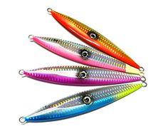 "Hengjia 4pcs/lot Metal Lead Jigging Hook Lead Fishing Lure Knife Shape Laser Body 15.3cm/6.02""/120g Hengjia http://www.amazon.com/dp/B00SSIKN1C/ref=cm_sw_r_pi_dp_vQYXub1J33ZH4"