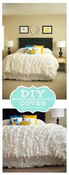 DIY Ruffled Duvet Cover from kiki and company