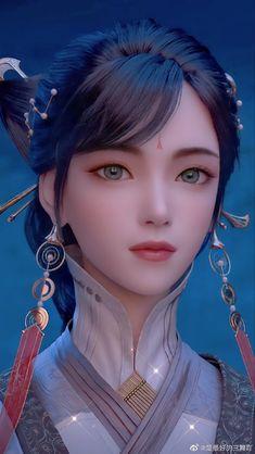 Fantasy Art Warrior, Anime Art Fantasy, Fantasy Art Women, 3d Fantasy, Beautiful Fantasy Art, Beautiful Anime Girl, Japonese Girl, Anime Angel Girl, Pretty Asian Girl