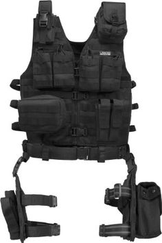 Barska Loaded Gear VX-100 Tactical Vest and Leg Platform