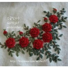 leisha' s galaxy embroidery Bullion Embroidery, French Knot Embroidery, Hand Embroidery Videos, Embroidery On Clothes, Embroidery Flowers Pattern, Embroidery Works, Flower Embroidery Designs, Simple Embroidery, Rose Embroidery