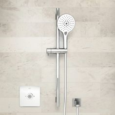 Why should you fiddle with a hand piece just to get a desired spray preference? With Rainclick, a simple click of a button allows you to easily choose from 3 spray modes (Tranquil Rain, Jet Rain or Therapy Rain) for an indulgent shower of your choice. American Standard, Shower Enclosure, Door Handles, Chrome, Rain, Hands, Rain Fall, Shower Cabin, Door Knobs