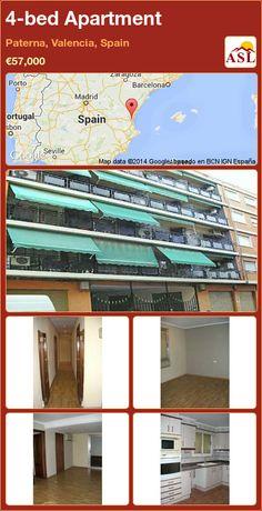 4-bed Apartment in Paterna, Valencia, Spain ►€57,000 #PropertyForSaleInSpain