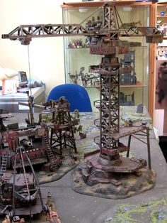George Dellapina's Ork Gargant Assembly Site Terrain