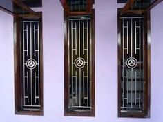 Main door grill design modern 18 ideas for 2019 Home Window Grill Design, Iron Window Grill, Window Grill Design Modern, House Window Design, Grill Door Design, Balcony Railing Design, Modern Design, Borneo, Minimalist Window