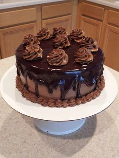 Yellow Butter with Chocolate Buttercream cover with Ganache
