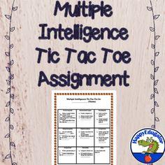 High School Great Depression Tic Tac Toe Assignment  School