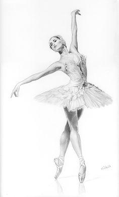 bleistiftzeichnung Ballerina is a drawing by Michelle Brown Ballerina Kunst, Ballerina Poses, Ballerina Drawing, Dancer Drawing, Ballet Drawings, Dancing Drawings, Pencil Art Drawings, Art Drawings Sketches, Drawings Of Ballerinas