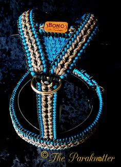 """*Exclusive* Adjustable and Reflectable Paracord Dog Harness """"Bono""""…"""