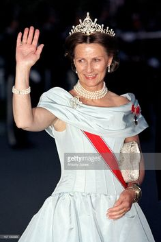 20. June 1997. King Harald & Queen Sonja'S 60Th Birthday Celebrations In Norway.Gala Dinner At The Royal Residence Stiftgarden In Trondheim.