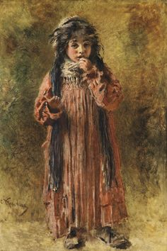 Konstantin Egorovich Makovsky | Lot | Sotheby's KONSTANTIN EGOROVICH MAKOVSKY 1839-1915 YOUNG GYPSY signed in Latin l.l. oil on panel 55 by 37.5cm, 21 3/4 by 14 3/4 in.