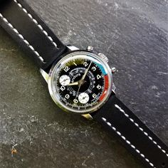 Endura Chronograph Save The Pandas, Vintage Watches, Chronograph, Accessories, Black, Antique Watches, Black People, Vintage Clocks, Jewelry Accessories