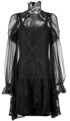 Gorgeous black lace dress.